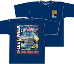 Fleet Week New York City tee shirts
